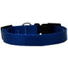 Mirage Pet Products Plain Nylon Dog Collar SM Blue