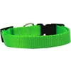 Mirage Pet Products Plain Nylon Dog Collar SM Hot Lime Green