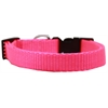 Mirage Pet Products Plain Nylon Dog Collar LG Hot Pink
