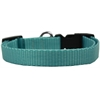 Mirage Pet Products Plain Nylon Dog Collar MD Ocean Blue