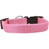 Mirage Pet Products Plain Nylon Dog Collar SM Pink