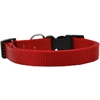 Mirage Pet Products Plain Nylon Dog Collar SM Red