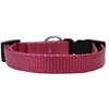 Mirage Pet Products Plain Nylon Dog Collar SM Rose