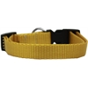 Mirage Pet Products Plain Nylon Dog Collar LG Golden Yellow