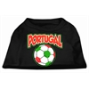 Mirage Pet Products Portugal Soccer Screen Print Shirt Black XXL (18)