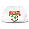 Mirage Pet Products Portugal Soccer Screen Print Shirt White XXL (18)