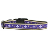 Mirage Pet Products Purple and Yellow Fleur de Lis Nylon Dog Collars Medium