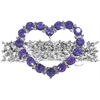 Mirage Pet Products Heart Hair Barrette Purple