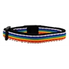 Mirage Pet Products Rainbow Striped Nylon Collars Rainbow Stripes Cat Safety