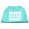 Mirage Pet Products Who Rescued Who Screen Print Shirt Aqua XS (8)