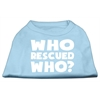 Mirage Pet Products Who Rescued Who Screen Print Shirt Baby Blue Med (12)