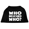 Mirage Pet Products Who Rescued Who Screen Print Shirt Black  XS (8)