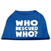 Mirage Pet Products Who Rescued Who Screen Print Shirt Blue XS (8)