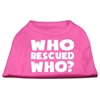 Mirage Pet Products Who Rescued Who Screen Print Shirt Bright Pink XS (8)