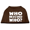 Mirage Pet Products Who Rescued Who Screen Print Shirt Brown XS (8)