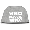 Mirage Pet Products Who Rescued Who Screen Print Shirt Grey Sm (10)