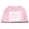 Mirage Pet Products Who Rescued Who Screen Print Shirt Light Pink XXL (18)