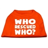 Mirage Pet Products Who Rescued Who Screen Print Shirt Orange Lg (14)