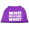 Mirage Pet Products Who Rescued Who Screen Print Shirt Purple XS (8)