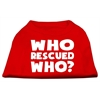 Mirage Pet Products Who Rescued Who Screen Print Shirt Red XS (8)