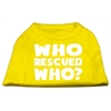 Mirage Pet Products Who Rescued Who Screen Print Shirt Yellow XXL (18)
