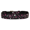 Mirage Pet Products Retro Nylon Ribbon Collar Black Large
