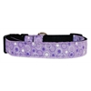 Mirage Pet Products Retro Nylon Ribbon Collar Lavender Large