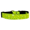 Mirage Pet Products Retro Nylon Ribbon Collar Lime Green Medium