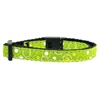 Mirage Pet Products Retro Nylon Ribbon Collar Lime Green Cat Safety