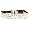 Mirage Pet Products Retro Nylon Ribbon Collar White Large