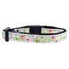 Mirage Pet Products Retro Nylon Ribbon Collar White Cat Safety