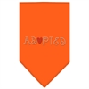 Mirage Pet Products Adopted Rhinestone Bandana Orange Large