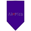 Mirage Pet Products Adopted Rhinestone Bandana Purple Large