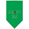 Mirage Pet Products Adopt Me Rhinestone Bandana Emerald Green Small