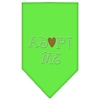 Mirage Pet Products Adopt Me Rhinestone Bandana Lime Green Large