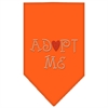 Mirage Pet Products Adopt Me Rhinestone Bandana Orange Small