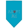 Mirage Pet Products Adopt Me Rhinestone Bandana Turquoise Large