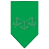 Mirage Pet Products Anchors Rhinestone Bandana Emerald Green Large