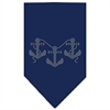 Mirage Pet Products Anchors Rhinestone Bandana Navy Blue Small
