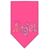 Mirage Pet Products Technicolor Angel Rhinestone Pet Bandana Bright Pink Size Large