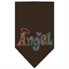 Mirage Pet Products Technicolor Angel Rhinestone Pet Bandana Cocoa Size Large