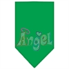Mirage Pet Products Technicolor Angel Rhinestone Pet Bandana Emerald Green Size Large