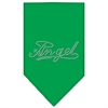 Mirage Pet Products Angel Rhinestone Bandana Emerald Green Large