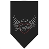 Mirage Pet Products Angel Heart Rhinestone Bandana Black Large