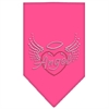 Mirage Pet Products Angel Heart Rhinestone Bandana Bright Pink Small