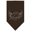 Mirage Pet Products Angel Heart Rhinestone Bandana Brown Large