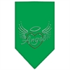 Mirage Pet Products Angel Heart Rhinestone Bandana Emerald Green Large