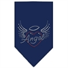 Mirage Pet Products Angel Heart Rhinestone Bandana Navy Blue large