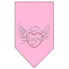 Mirage Pet Products Angel Heart Rhinestone Bandana Light Pink Large