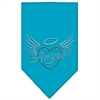 Mirage Pet Products Angel Heart Rhinestone Bandana Turquoise Large